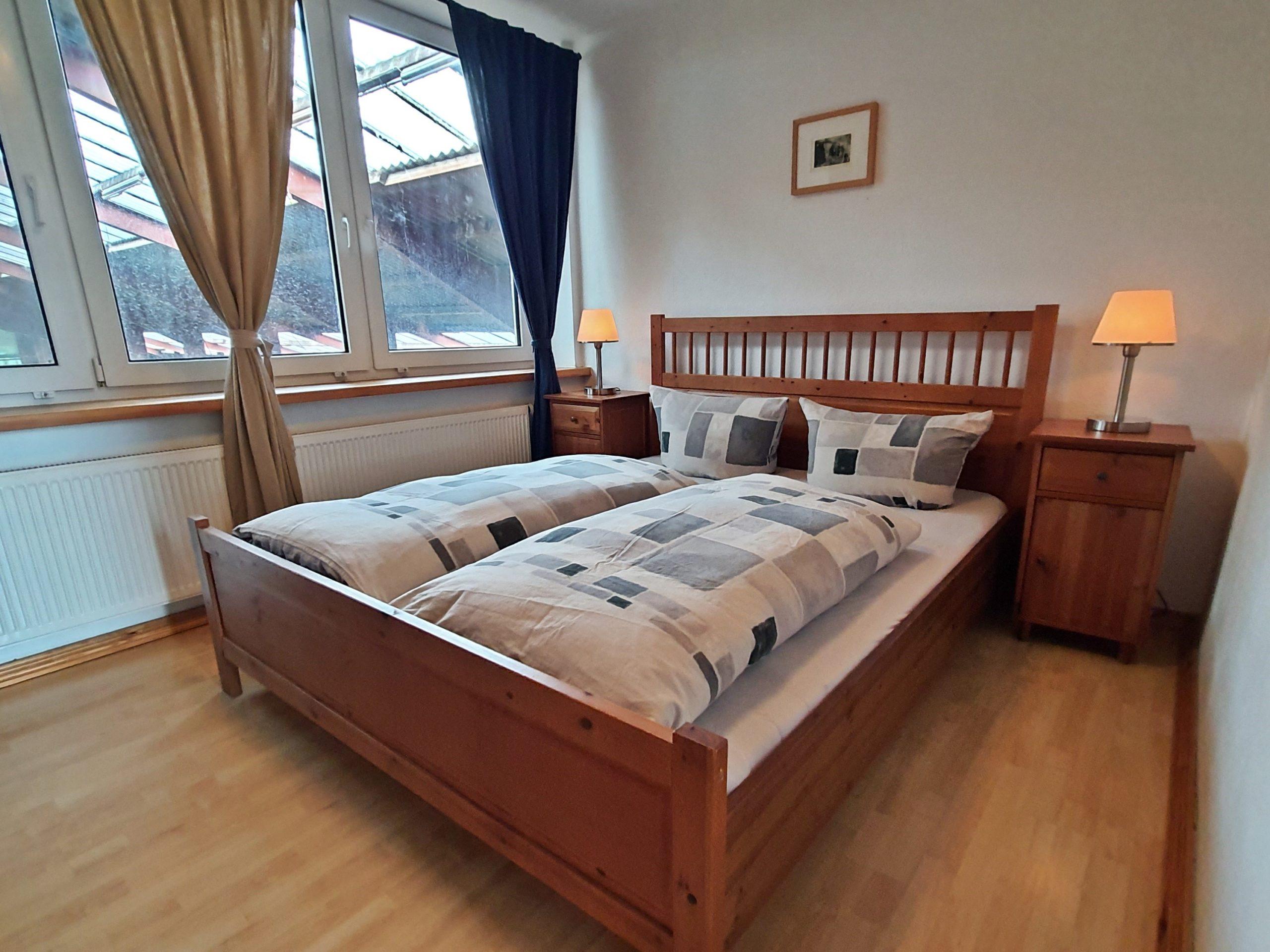 Schlafzimmer der Ferienwohnung Mozart